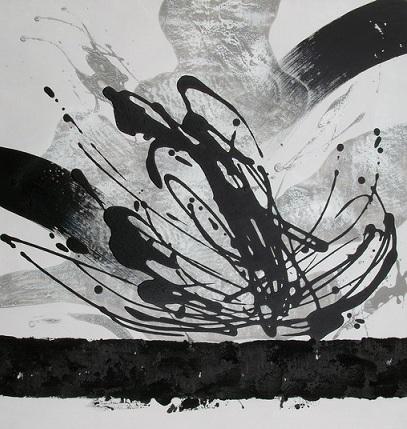 Dipinto a olio su tela bianco e nero della Collezione Dipintinmovimento