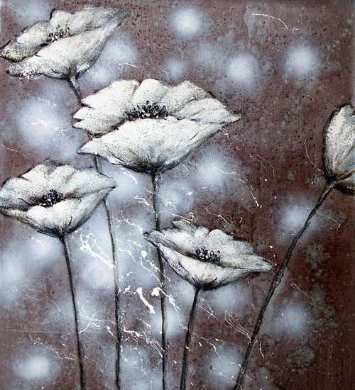 Le pareti in fiore i fiori dipinti di dipintinmovimento for Fiori dipinti a olio