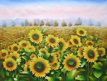 Girasoli dipinto a olio su tela dim.50x60 della Galleria Dipintinmovimento