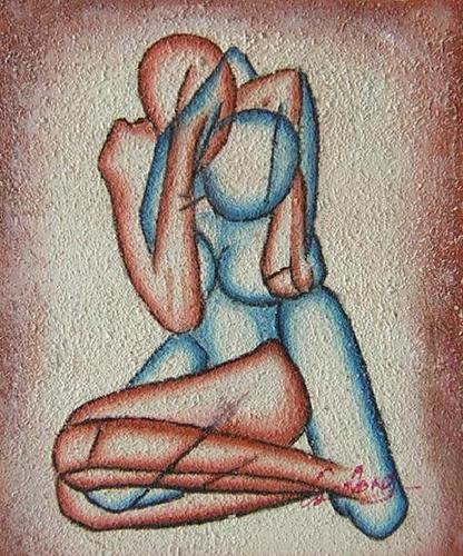 L'amore astratto dipinto a olio su tela dim.50x60 della Galleria Dipintinmovimento