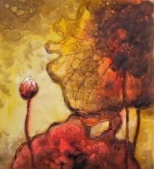astratto nifea rosa dipintinmovimento F104 dipinto a olio su tela dim.50x60