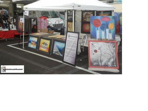 immagine del notro stand al mercato del sabato  di Spinaceto (Roma)